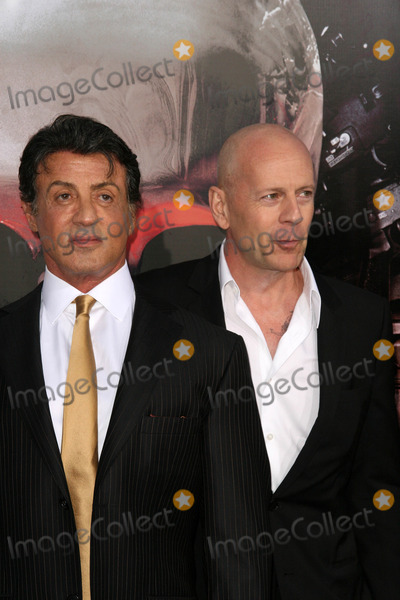 Sylvester Stallone,Bruce Willis Photo - The Expendables Film Screening
