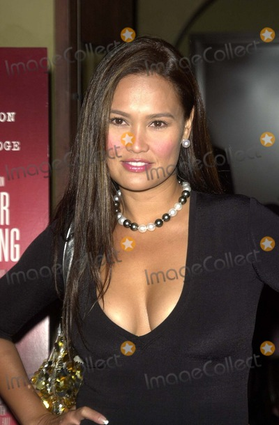 Tia Carrere at a party celebrating Singleton's induction into the