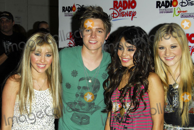 Miley Cyrus,AJ Michalka,Jesse McCartney,Vanessa ANNE Hudgens Photo - The Radio Disney Totally 10 Birthday Concert
