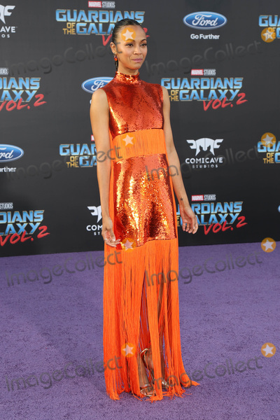 Zoe Saldana Photo - Guardians of the Galaxy Vol 2 Los Angeles Premiere