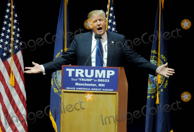 Photo - Photo by Dennis Van TinestarmaxinccomSTAR MAX2016ALL RIGHTS RESERVEDTelephoneFax (212) 995-11962816Donald Trump campaigns in Manchester New Hampshire
