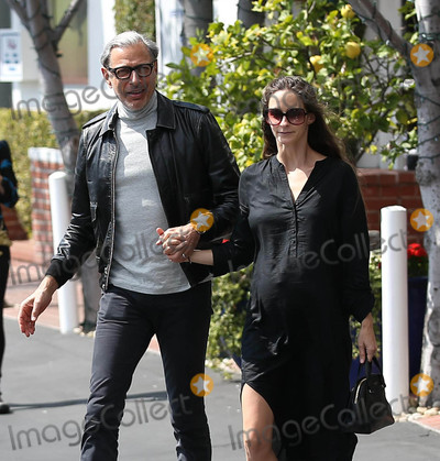 Photos From Jeff Goldblum and Emilie Livingston are seen in Los Angeles, CA