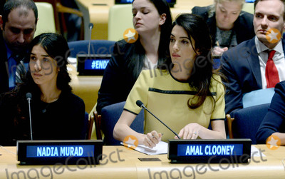 The Unit,Amal Clooney Photo - Amal Clooney is seen at The United Nations Headquarters in New York City