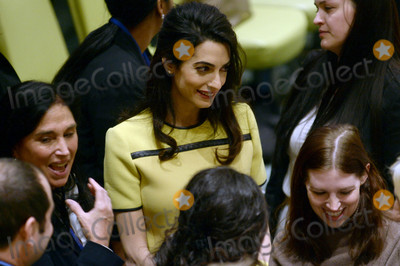 Photos From Amal Clooney is seen at The United Nations Headquarters in New York City