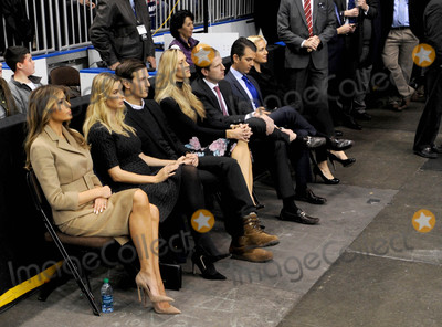 Photo - Photo by Dennis Van TinestarmaxinccomSTAR MAX2016ALL RIGHTS RESERVEDTelephoneFax (212) 995-11962816Donald Trump with Melania Knauss Ivanka Trump Donald Trump Jr and Eric Trump campaigns in Manchester New Hampshire
