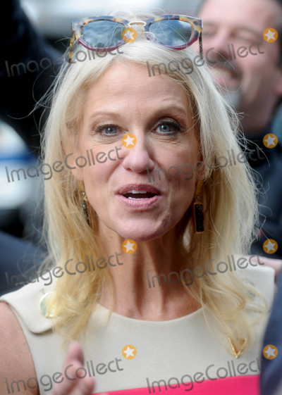 Photos From Kellyanne Conway is seen in New York City outside Trump Towers