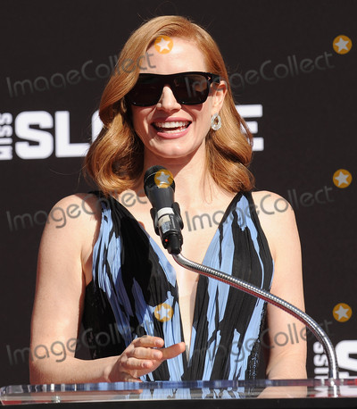 Photos From Jessica Chastain at a Hand And Footprint Ceremony
