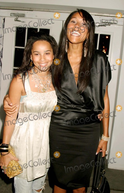 Lenny Kravitz Photo - Zoe Kravitz (Lenny Kravitz and Lisa Bonets Daughter) with Cynthia Garrett Arriving at Luca Lucaluca Orlandi Showing of Springsummer Collection 2005 at Bryant Park in New York City on September 12 2004 Photo by Henry McgeeGlobe Photos Inc 2004