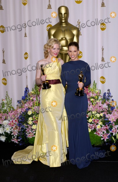 Cate Blanchett,Hilary Swank,CATE BLANCHETTE Photo - Academy Awards