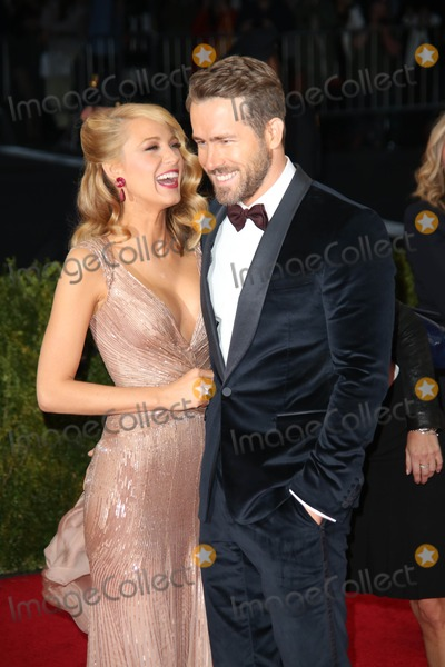 Ryan Reynolds,Blake Lively Photos - The Costume Institute Gala at the Metropolitan Museum of Art Celebrating the Opening of Charles Jamesbeyond Fashion May 5 2015 Photos by Sonia Moskowitz Globe Photos Inc 2014 Blake Lively Ryan Reynolds