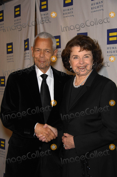 Julian Bond,Dianne Feinstein Photo - Human Rights Campaigns Hero Award and Gala - Los Angeles