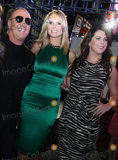 Heidi Klum,Lauren Graham,Michael Kors Photo - Project Runway 10th Anniversary Show - NYC