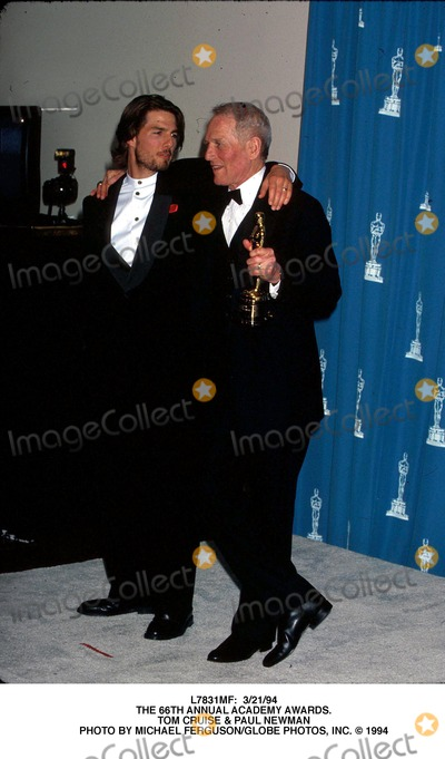 Paul Newman Photo -  32194 the 66th Annual Academy Awards Tom Cruise  Paul Newman Photo by Michael FergusonGlobe Photos Inc