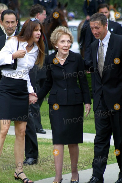 Former President Ronald Reagan,THE GATES,Nancy Reagan,President Ronald Reagan,Patti Davis,Ronald Prescott Reagan,Ronald Reagan Photo - Ronald Reagan Funeral