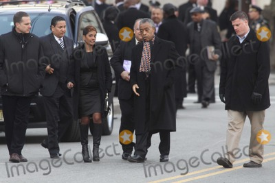 Whitney Houston,Al Sharpton Photo - Whitney Houston Funnel Service at New Hope Baptist Church in Newark NJ