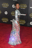 Lupita Nyongo Photo - 14 December 2015 - Hollywood California - Lupita Nyongo Star Wars The Force Awakens Los Angeles Premiere held at multiple theaters on Hollywood Blvd Photo Credit Byron PurvisAdMedia