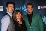 SCOTT EVANS Photo - Chris Evans Lisa Evans Scott Evansat the 24th Annual GLAAD Media Awards JW Marriott Los Angeles CA 04-20-13