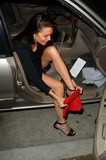Alicia Arden Photo - Alicia Ardenthe Baywatch Actress is caught changing into a scandalous dress in her car before attending a New Years Eve bash at the W Hotel Hollywood CA 12-31-16