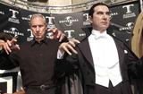 Bela Lugosi Jr Photo -  BELA LUGOSI JR at the unveiling of Madame Tussauds lifelike wax portraits of Dracula Frankensteins Monster and The Mummy Universal Studios 10-10-01