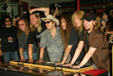 Iron Maiden Photo - Iron Maiden at the ceremony honoring Iron Maiden with induction in to the Hollywood Rockwalk Rockwalk HollywoodCA 08-19-05