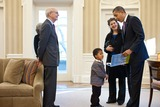 Stephen Breyer Photo - United States President Barack Obama reads from his book Of Thee I Sing A Letter to My Daughters during a visit by Supreme Court Justice Stephen Breyer and his family to the Oval Office March 2 2011 Joining them from left are Justice Breyers wife Joanna Breyer grandson Eli Essiam Breyer and daughter Nell BreyerPhoto by Pete SouzaWhite HouseCNP-PHOTOlinknet