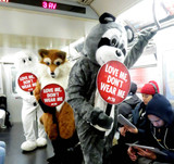 Prince Photo - Photo by PETAstarmaxinccomSTAR MAX2015ALL RIGHTS RESERVEDTelephoneFax (212) 995-1196121516Its Christmastime in the cityand a fleet of PETA mascots including two rabbits a fox and a raccoon will hit the streets and the subway on Thursday to encourage holiday shoppers to keep fur off their shopping lists The costumed crusadersalong with human helpers wielding anti-fur signs and leafletswill start in Herald Square at noon and then take the R train to Prince Street PETAs mascot pals will remind shoppers from Macys to Bloomingdales that every fur coat collar or cuff costs sensitive animals their lives says PETA Associate Director Ashley Byrne Caring people can offer animals a little comfort and joy this holiday season by refusing to buy or wear fur PETAwhose motto reads in part that animals are not ours to wearnotes that most animals used for fur spend their entire lives confined to cramped filthy wire cages until they are bludgeoned poisoned electrocuted or even skinned alive Thats part of why a growing number of top designers and retailersincluding Stella McCartney Calvin Klein Vivienne Westwood Giorgio Armani HM Topshop Zara Urban Outfitters Gap Inc JCrew and many moreare all fur-free