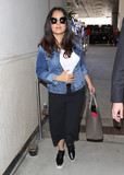 Salma Hayek Photo - Photo by SMXRFstarmaxinccomSTAR MAX2017ALL RIGHTS RESERVEDTelephoneFax (212) 995-119661517Salma Hayek is seen at LAX Airport in Los Angeles CA