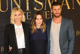 Emily Blunt Photo - CHARLIZE THERON EMILY BLUNT and CHRIS HEMSWORTH Photocall The Huntsman  the Ice Queen Hamburg 30032016