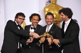 Armando Bo Photo - Alejandro Gonzalez Inarritu  Nicolas Giacobone  Alexander Dinelaris Jr  Armando Bo at the 87th Annual Academy Awards at the Dolby Theatre HollywoodFebruary 22 2015  Los Angeles CAPicture Paul Smith  Featureflash