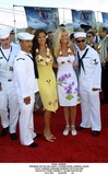 Stacy Kamano Photo - Pearl Harbor Premiere on the Uss John C Stennis Pearl Harbor Hawaii Stacy Kamano  Brande Roderick with Sailors Photo by Fitzroy Barrett  Globe Photos Inc 5-21-2001 K21847fb (D)