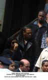 Aaliyah Photo - Aaliyah Funeral Church of St Ignatius Loyola NYC 083101 Busta Rhymes Photo by John BarrettGlobe Photos Inc