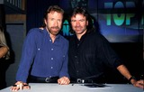 Chuck Norris Photo - Chuck Norris and His Brother Aaron Photo Barry King  Ipol Globe Photos Inc Chucknorrisretro