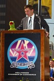 Kermit the Frog Photo - Kermit the Frog and Charlie Rivkin - Kermit the Frog Honored with a Star on the Hollywood Walk of Fame in Hollywood CA - Photo by Fitzroy Barrett  Globe Photos Inc - 11-14-2002 - K27138fb (D)