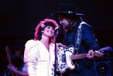 Waylon Jennings Photo - Jesse Colter with Waylon Jennings Photo by Adam ScullrangefindersGlobe Photos Inc