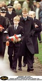 William Prince Photo - Brave princes William (right) and Harry leave the church on the Queens Sandringham Estate in Norfolk today (Thursday) after attending morning service on their first Christmas Day since their mother Diana Princess of Wales died  The teenage princes managed a smile and thanked the crowds who had gathered outside for their good wishes