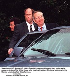 Monica Lewinsky Photo - Washington DC - August 17 1998 -- Special Prosecutor Kenneth Starr smiles as he prepares to leave The White House after hearing President Clintons testimony in the Monica Lewinsky affair this afternoonCredit Ron Sachs-CNP  PoolSUPPLIED BY JKELGLOBE PHOTOS INC