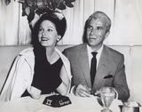 Arlene Dahl Photo - Fernando Lamas with His Wife Arlene Dahl at the Harwyn Club Photo by Smp-Globe Photos Inc