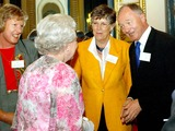 Ken Livingstone Photo - 051721 100603Queen Elizabeth II meets left to right Anne Kennedy from YHA England and Wales  Prue Leith from Hospitality Training Foundation and Ken Livingstone Mayor of London at a Tourism Reception at Buckingham PalaceQueen Visits Various British Tourist atrractions to coincide with British Tourism Day6102003PHOTO BYALPHAGLOBE PHOTOS INC 2003A13207