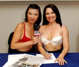 Lily Kwan Photo - Lily Kwan  Samantha Page Naked News Press Launch - Central Hall Westminster London 8112004 Photo Bybrett ParkerglobelinkukGlobe Photos Inc 2004