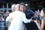 Andre Agassi Photo - Andre Agassi and Rafael Nadal Attend Nike NYC Street Tennis Event Washington Street NYC August 24 2015 Photos by Sonia Moskowitz Globe Photos Inc