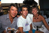 Mickey Hargitay Photo - Mickey Hargitay with Wife Ellen and Their Grandson Sean Drury Photo by Bob V Noble-Globe Photos Mickeyhargitayretro
