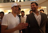 Ian Thorpe Photo - Michael Phelps(r) of the United States and Ian Thorpe(l) of Australia Attend the Press Conference of the Omega in Beijing China on August 20 2008china Outtpgnews Beijing 2008 Olympics Photo by Top Photo-Globe Photos Inc