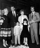 Gary Cooper Photo - Vivian Vance Gary Cooper Lucille Ball Fernando Lamas Desi Jr and Lucie Supplied by SmpGlobe Photos Inc
