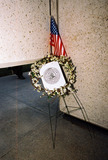 JFK Photo - Anti-war Demonstration Jfk Memorial Dallas Tx 02-15-03 Wreath with Arabic Script Photojeff Newman  Globe Photos Inc 2003