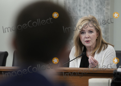 Photo - United States Senator Marsha Blackburn (Republican of Tennessee) speaks at the Senate Commerce Science and Transportation nomination hearings to examine the expected nomination of Peter Buttigieg of Indiana to be Secretary of Transportation in Washington DC on Thursday January 21 2021  Credit Ken Cedeno  Pool via CNPAdMedia