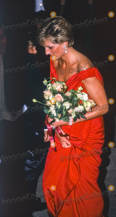 Princess of Wales Photo - Diana Princess of Wales attends the Royal Gala Evening to Benefit the London City Ballet at Department of Commerce in Washington DC USA on October 4 1990Credit Ron Sachs  CNPAdMedia