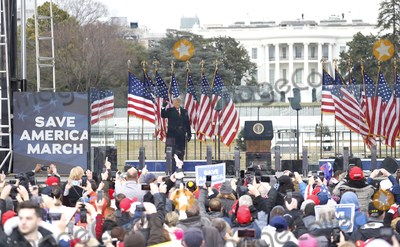Photo - President Trump delivers remarks to supporters in DC to support Trumps claims of voter fraud