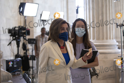 Photos From Speaker of the United States House of Representatives Nancy Pelosi (Democrat of California) Television Interview
