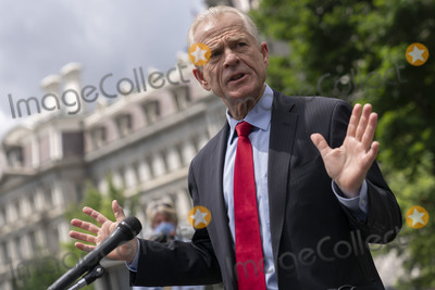 Photo - Peter Navarro speaks to the media at the White House