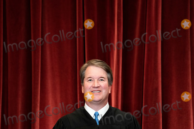 Supremes Photo - Associate Justice of the Supreme Court Brett Kavanaugh stands during a group photo of the Justices at the Supreme Court in Washington DC on April 23 2021  Credit Erin Schaff  Pool via CNPAdMedia